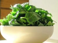 huge bowl of spinach